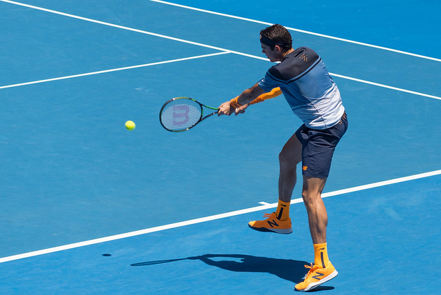 Milos Raonic at the Australian Open 2016