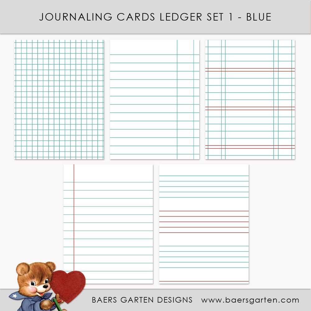 Journaling Cards Ledger