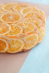 rovesciata alle arance e semi di papavero