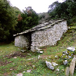 Ikaria's remotest hinterland 26 - example of house of the 16th cent. in Langada