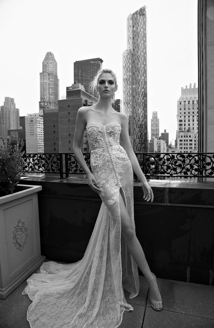 Inbal Dror 2016 Wedding Dresses - Mermaid sleeves wedding dress BR 16-01 | itakeyou.co.uk
