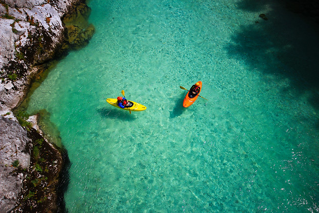 kayaking - Soca-river - Slovenia