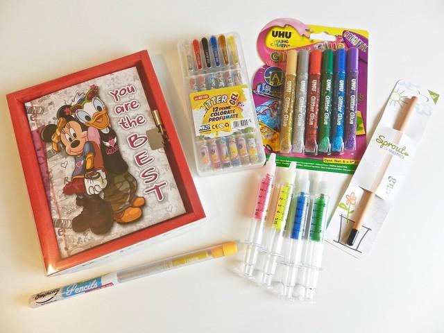 diario segreto e penne colorate