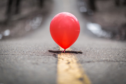 Red Balloons in the Middle of the Road #imaginED