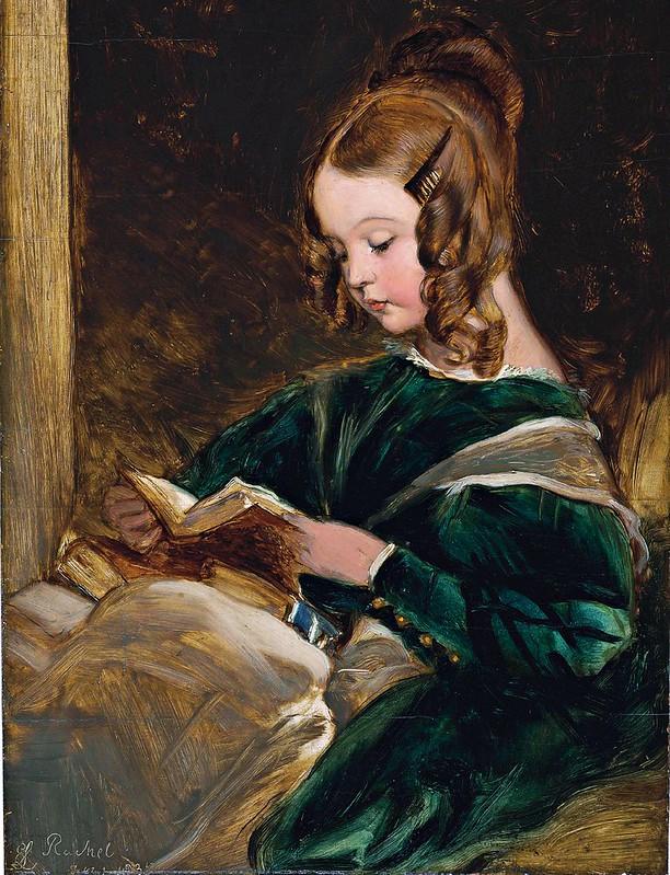 Edwin Henry Landseer - Study of Rachel Russell (1826-1898), daughter of Georgina, the second wife of John, sixth Duke of Bedford