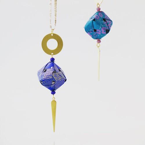 Mayumi Origami Jewelry - Cube Necklaces