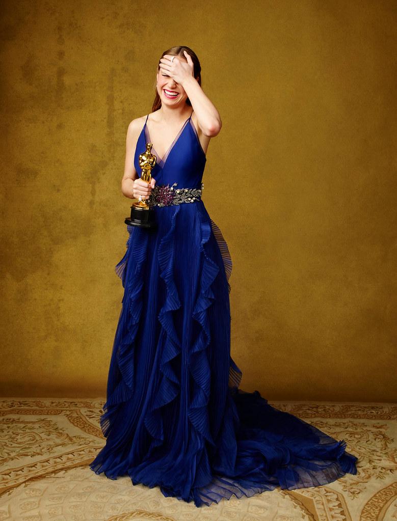 Бри Ларсон — Фотосессия на «Academy Awards» 2016 – 1