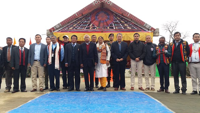 13.12th Feb_Mr. & Mrs Ramodorai Mr. Ranjit Barthakur, I.K. Muivah, GIG Imphal with Ditrict Admin  at the closure of the cultural programme at Ringui village in Ukhrul district of Manipur