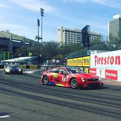A couple of Cadillac Racing ATS-V.R GT3s. @mattblasi was in St Petersburg yesterday covering the Pirelli World Challenge @pirellitirenorthamerica #gpstpete #pirelliwc #mischieftv #cadillac #atsvr #atsvrgt3