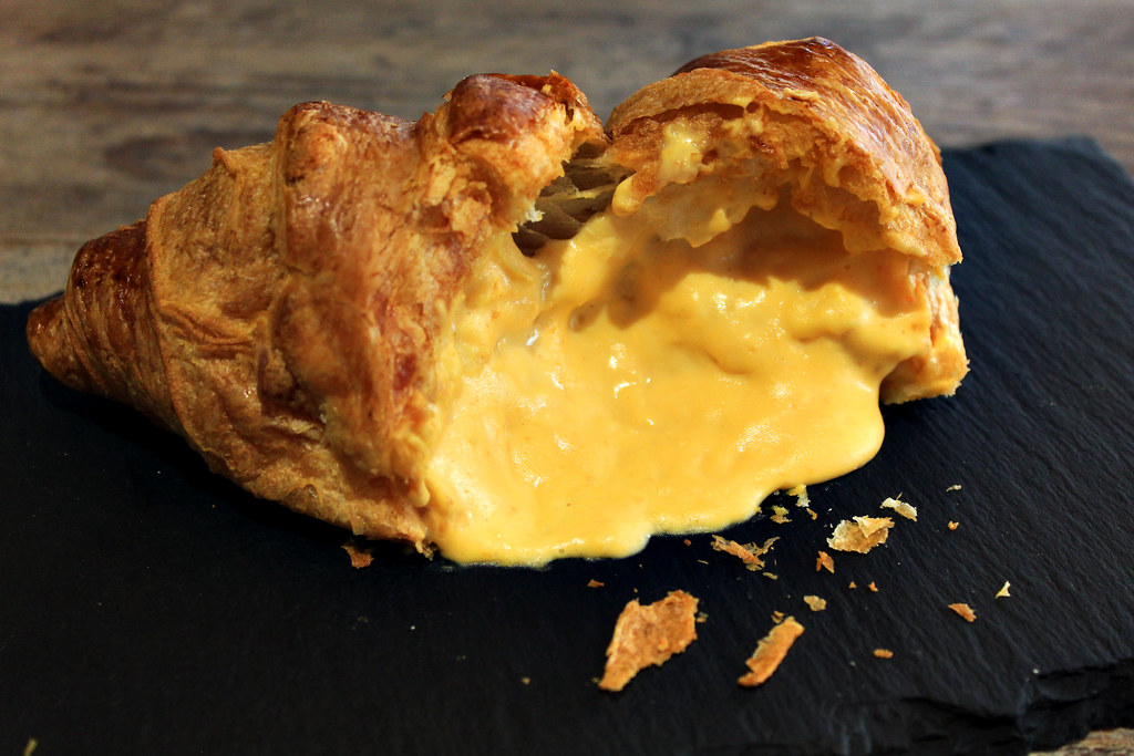 Bridge Salted Egg Croissant Open Slightly Higher