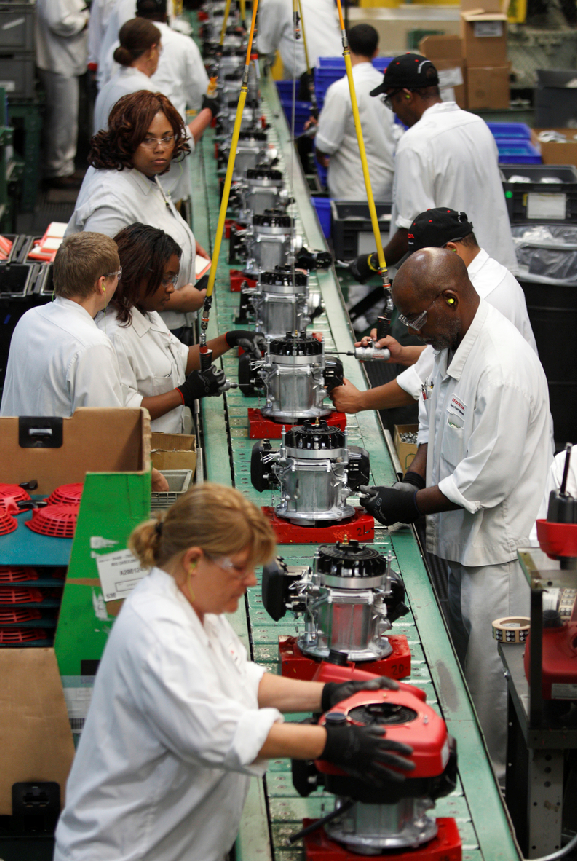 Honda Troy Ohio >> From Inside the Honda Plant, Swepsonville, NC - Lawn Mower ...