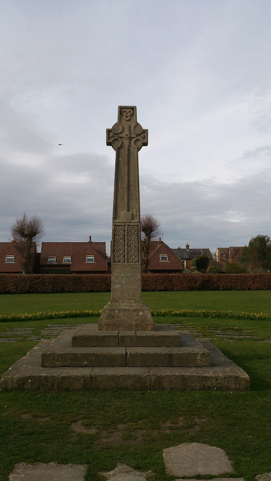 Saxon Crucifix in garden of Romsey Abbey SWC Walk 58 Mottisfont and Dunbridge to Romsey