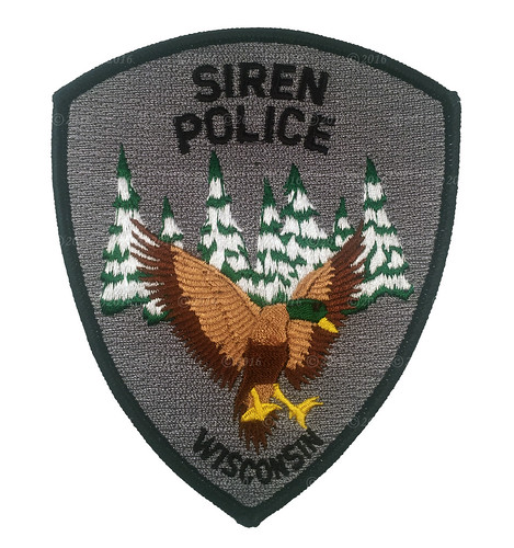 Siren Police Patch