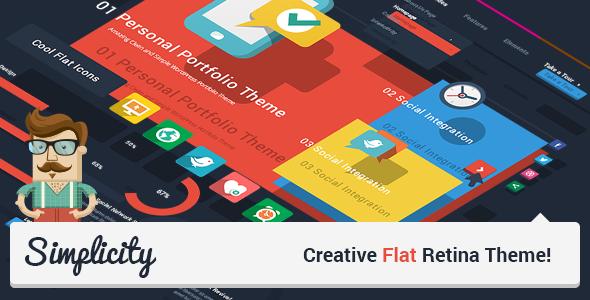 Simplicity v1.7 – Creative Flat Retina Theme
