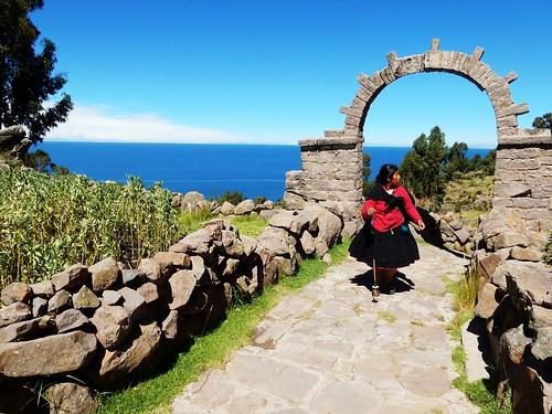 Gate in Taquile Island