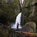 Panorama of David at Wahclella Falls - Brenizer Method by Mitchell Lea