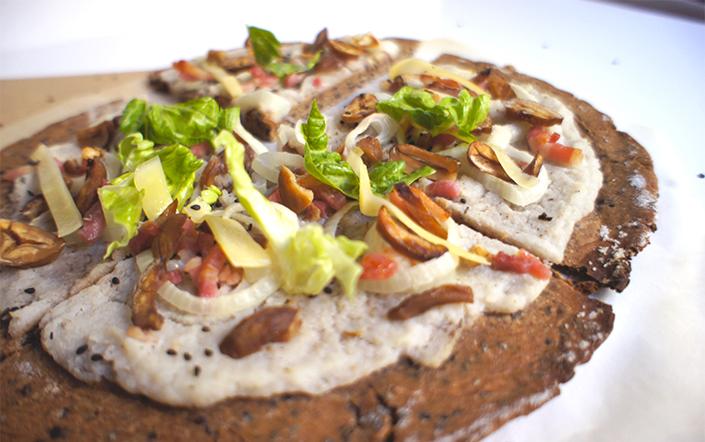 Pizza d'hiver châtaigne & chou-fleur 1