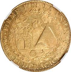 PERU. South Peru. 8 Escudos reverse