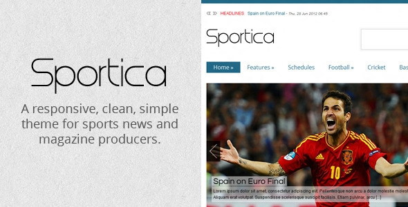 ThemeForest Sportica v1.0 - Responsive Sports News/Magazine