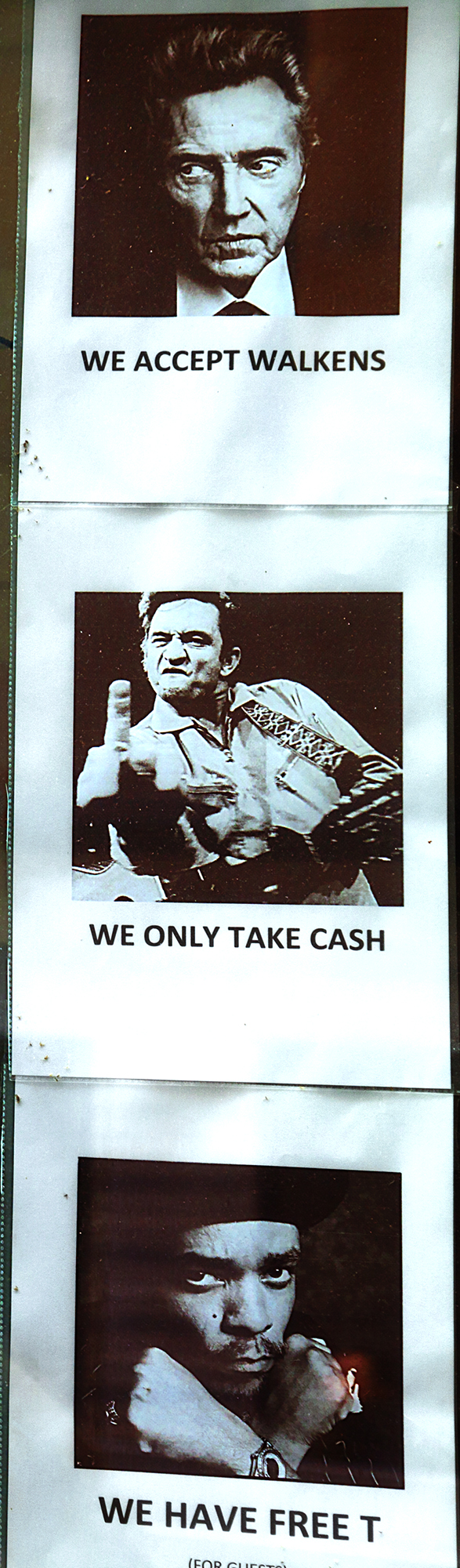 WE ONLY TAKE CASH--Budapest (detail)