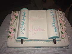 Two tier Torah in rolled fondant
