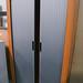 Tall 2 door cherry and grey tambour