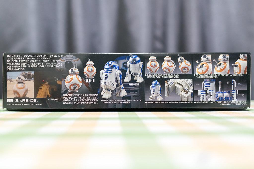 スターウォーズ 1/12 BB-8&R2-D2 [プラモデル] 、外箱側面