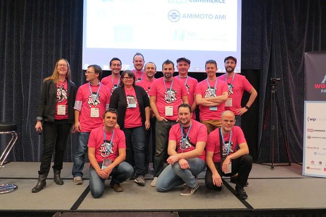 L'équipe organisatrice (absent Julien)