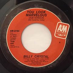 BILLY CRYSTAL:YOU LOOK MARVELOUS(LABEL SIDE-B)