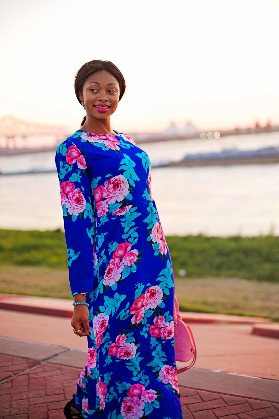 long floral maxi dress louisiana fashion