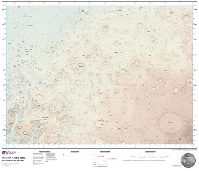 Ordnance Survey map of Mars