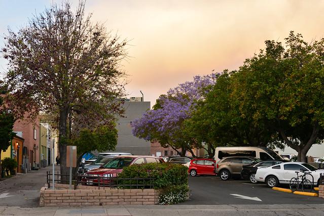 Strange Colors of Dusk at San Luis Obispo, Central California, USA
