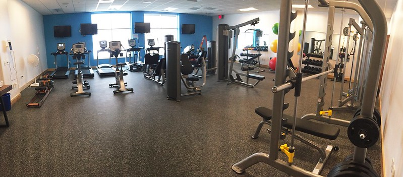 new fitness room in the new work digs!