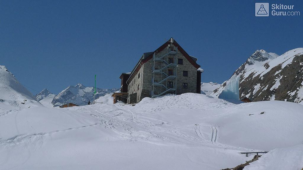Franz Senn Hütte Stubaiské Alpy Österreich foto 01