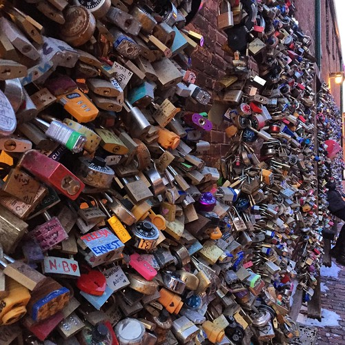 The love locks, in the Distillery District.