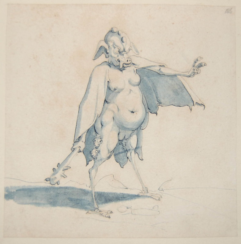 Arent van Bolten - Monster 186, from collection of 425 drawings, 1588-1633