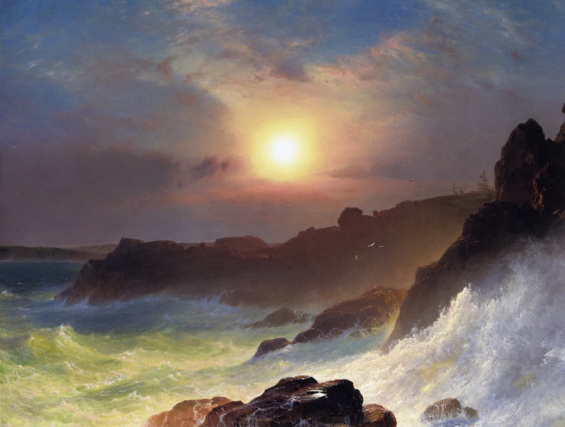 Coast Scene, Mount Desert by Frederic Edwin Church, 1863