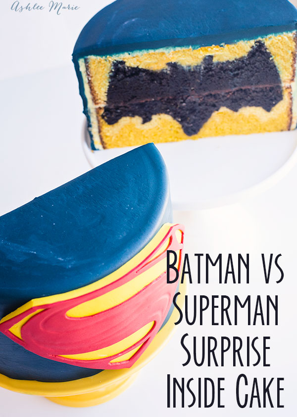 a video tutorial for this design inside batman vs superman cake