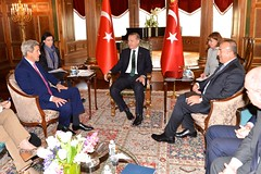 Secretary Kerry Meets With Turkish President Erdogan and Foreign Minister Cavusoglu in Washington
