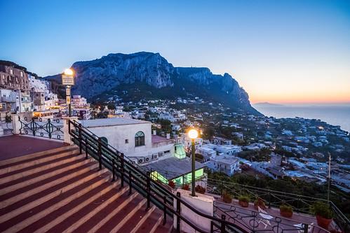 sunset sea italy t island capri italia nightscape sony nightview mm fe za 夜景 海 f4 nightscenes 義大利 oss 1635 a7ii 黃昏 tyrrhenian variotessar 卡布里島 第勒尼安海