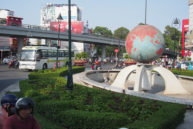 globe roundabout. Ho Chi Minh City (Saigon)