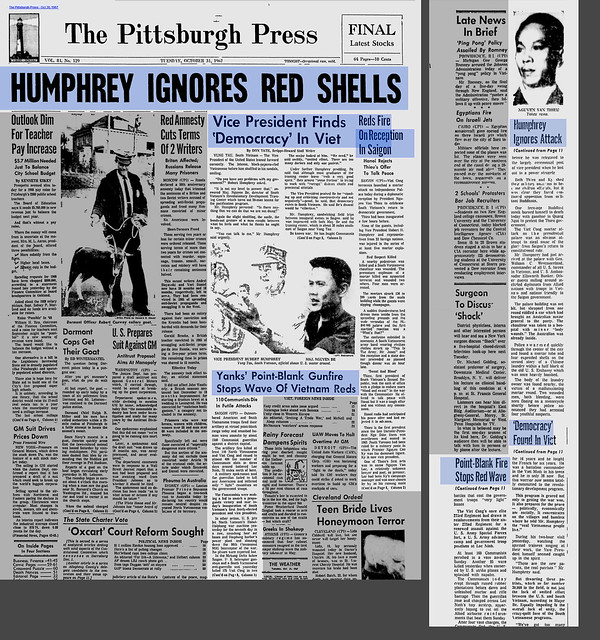 Vice President Finds Democracy In Viet - The Pittsburgh Press - Oct 30, 1967