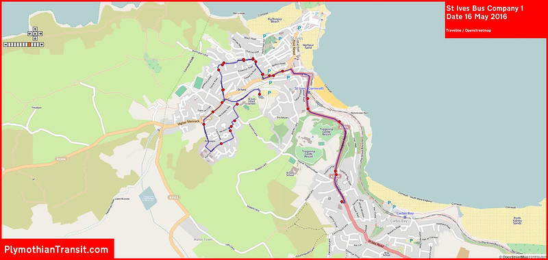 St Ives Bus Company Route-001
