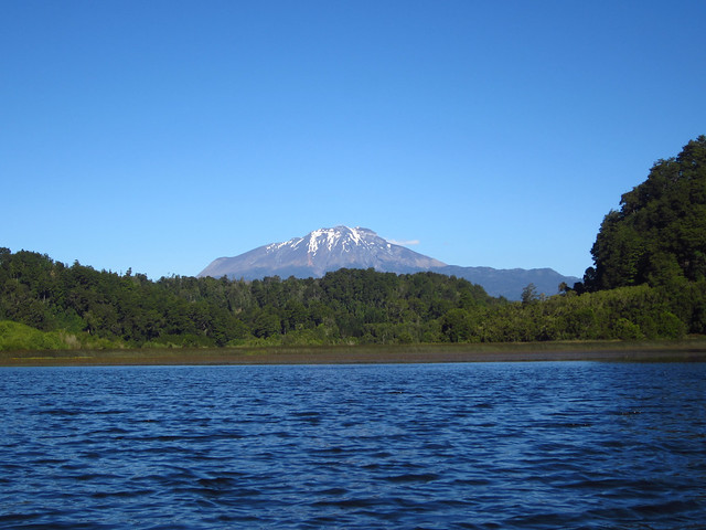 View of Volcán Calbuco While Kayaking near Puerto Varas, Chile