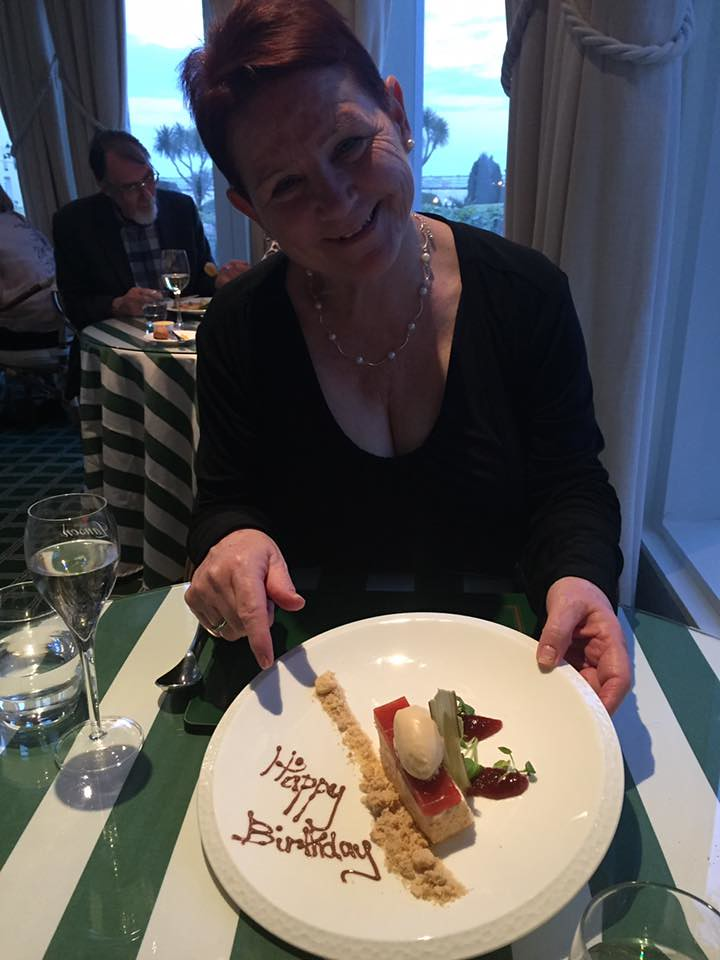 Birthday desert. Yum! Old Government House Hotel, Guernse