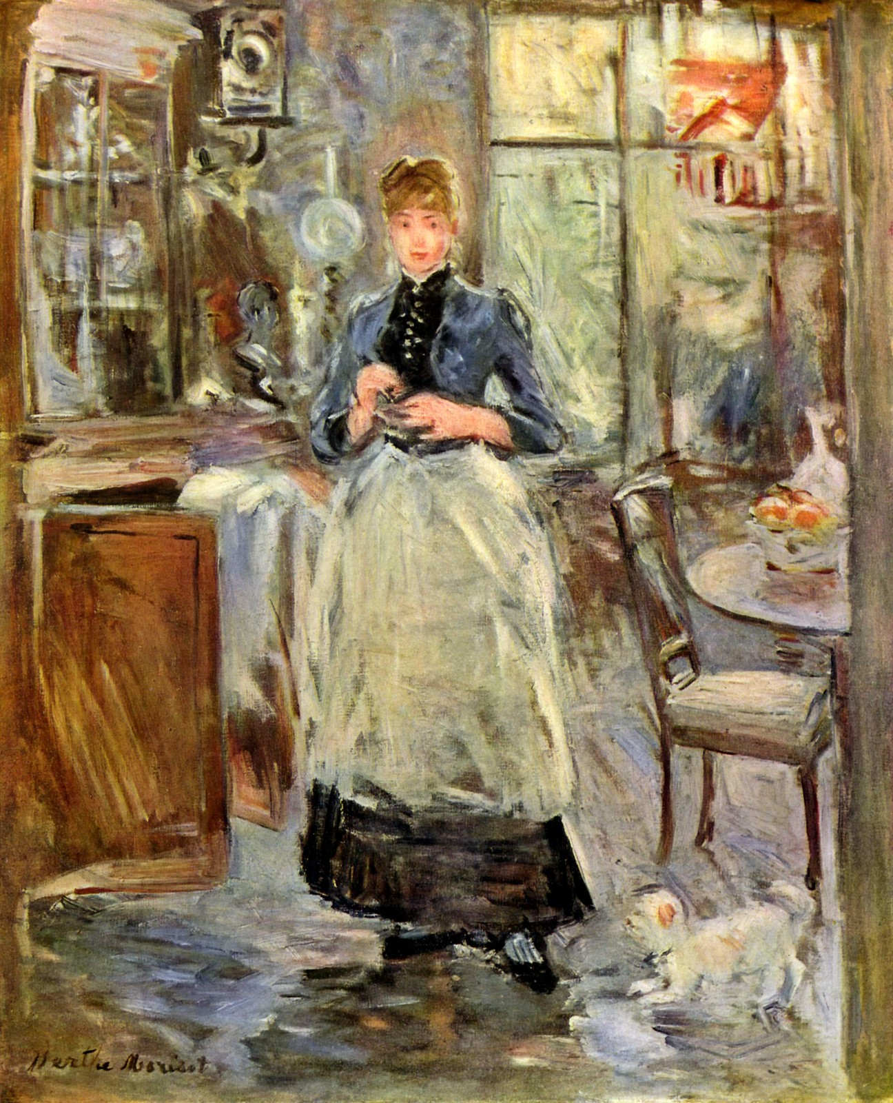 In the Dining Room by Berthe Morisot, 1875