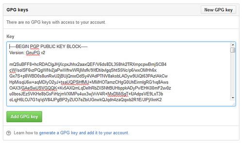 OpenPGP Key in GitHub (2)