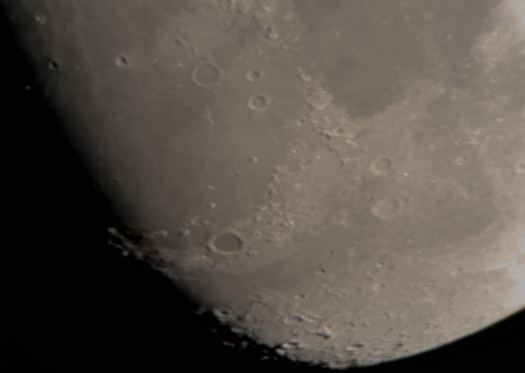Moon Nikon D5300 Celestron 24-8mm Zoom Lens through Celestron 8SE