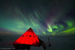 Camping under the Southern Lights