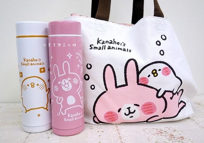 33 全家卡娜赫拉的小動物(P助與兔兔)拖特包、保溫瓶